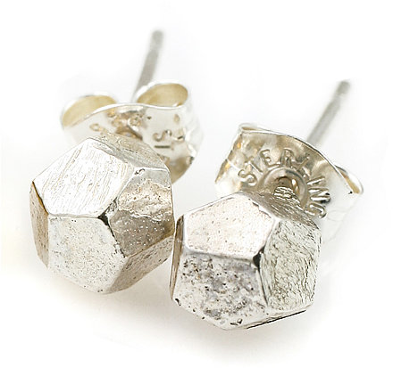 Tracy Matthews Sterling Silver Nugget Studs