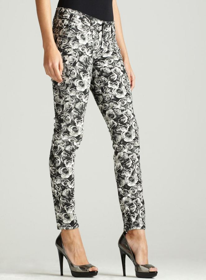 7 For All Mankind Seven 7 Rose Floral Print Skinny Jean