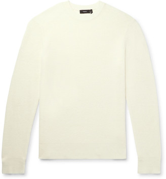 Theory Davies Textured-Knit Linen-Blend Sweater