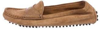 Gucci Microguccissima Suede Driving Loafers