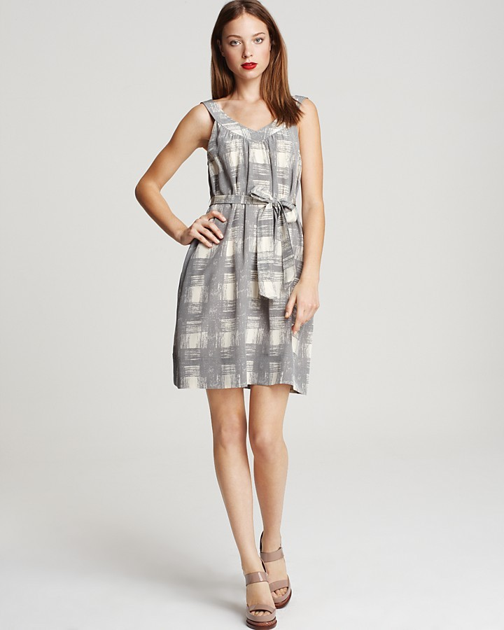 MARC BY MARC JACOBS 10 Year Anniversary Painted Plaid Print Dress
