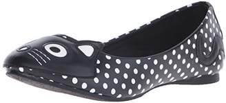 T.U.K. Women's Polka Dot Kitty Ballet Flat