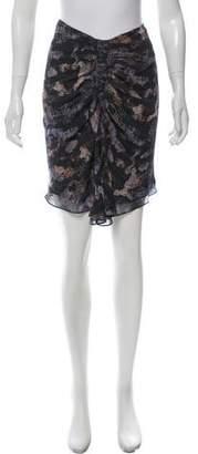 Isabel Marant Printed Silk Skirt
