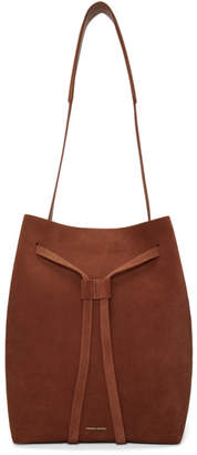 Mansur Gavriel Red Suede Drawstring Hobo Bag