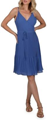 Molly Bracken Premium Pleated Wrap Dress