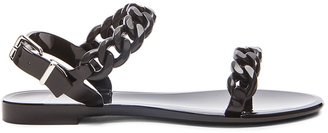 Givenchy Chain Jelly Sandals $295 thestylecure.com