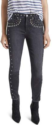 Current/Elliott The 7-Pocket Skinny Stiletto Jeans in Luminary With Studs
