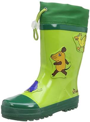 Playshoes GmbH Unisex Kids' Rubber Mouse Elephant and Duck Rain Boots, (Green 29), 4 Child UK 20/21 EU