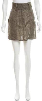 Alice + Olivia Linen Mini Skirt