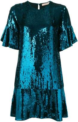 Twin-Set sequinned drop-waist dress
