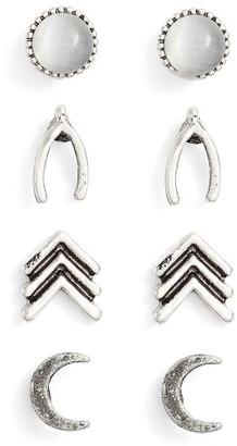 Women's Ettika Set Of 4 Stud Earrings $38 thestylecure.com