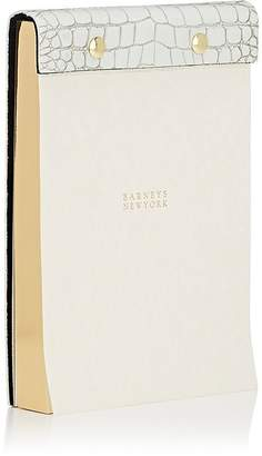 Barneys New York Crocodile-Embossed Leather-Bound Notepad