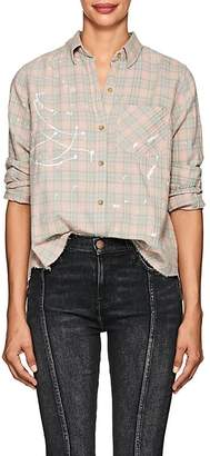 Current/Elliott Women's The Ivie Plaid Stretch-Cotton Shirt