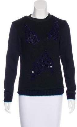 Risto Embellished Hand Knit Sweater w/ Tags