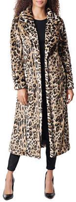 Fabulous Furs Maven Leopard Faux Fur Maxi Coat