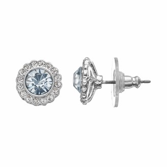 Lauren Conrad Simulated Crystal Halo Button Stud Earrings