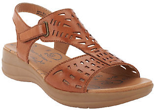 BareTraps Perforated Leather Adj. Strap Sandals - Jordy $24.33 thestylecure.com