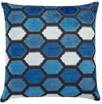The Piper Collection Evie 22x22 Velvet Pillow - Indigo