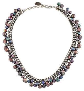 Jay Strongwater Pearl Choker Necklace