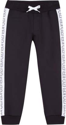Kenzo Tricot Jogger Pants w/ Logo Tape Sides, Size 2-6