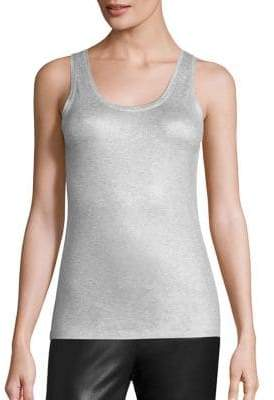 Majestic Filatures Metallic Scoopneck Tank Top