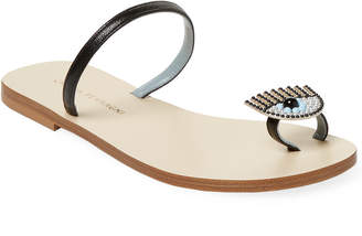 Chiara Ferragni Beaded Eye Sandal