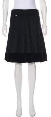 Chanel Paris-Dallas Wool Pleated Skirt