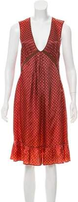 See by Chloe Polka Dot Midi Dress