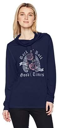 Fifth Sun Women's Rebel Rose Long Sleeve Cowls Top