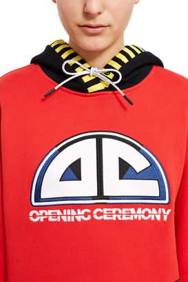 Opening Ceremony Hooded Sweatshirt Dress