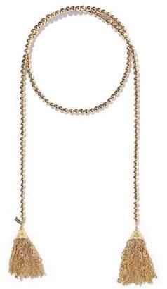 Kenneth Jay Lane Kenneth Jay Lane Woman Tasseled Beaded Gold-tone Necklace Gold Size sKi0kro2Ds