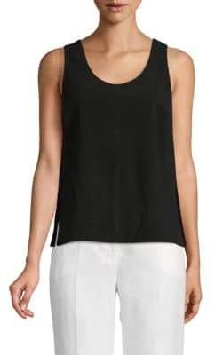 Robert Rodriguez Side Slit Suede Tank Top