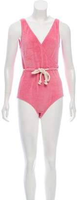 Lisa Marie Fernandez Terry Cloth One-Piece Swimsuit w/ Tags