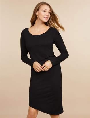 Motherhood Maternity Jessica Simpson Asymmetrical Hem Lift Up Nursing Dress