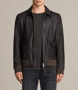 AllSaints Stano Aviator Leather Jacket