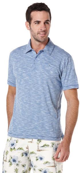 Cubavera Short Sleeve Slub Knit Polo