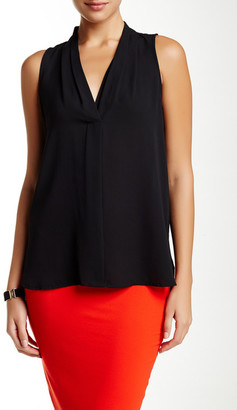 Vince Camuto Pleated V-Neck Tank $69 thestylecure.com