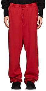 Y-3 Men's Tech-Jersey Track Pants-Red Size M
