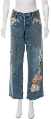Ralph Lauren Mid-Rise Distressed Jeans
