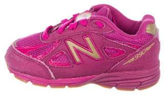 New Balance Girls' Leather Low-Top Sneakers