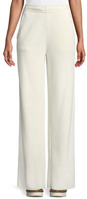 Moncler Wide-Leg Spa Pants w/ Elasticized Waist