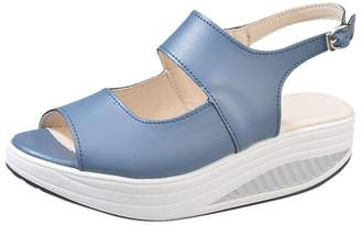 Aurorax Womens Platform Sandals,Summer Casual Shake Thick Bottom Heel Shoes Flip Flop Slipper for Outdoor Indoor [ US:5-9 ]
