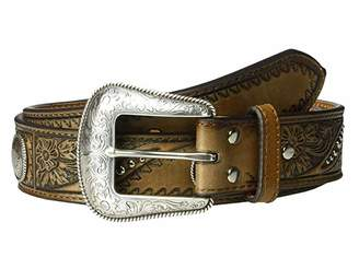 Nocona M&F Western Emboss Belt w/ Studs Conchos