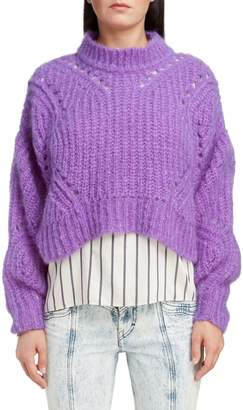 Isabel Marant Mohair & Wool Blend Crop Sweater