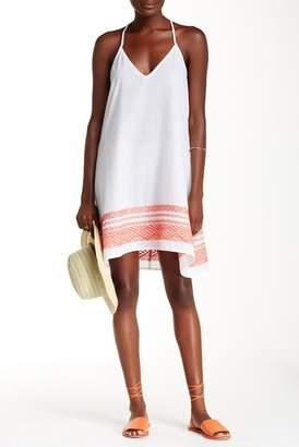 Love Stitch Embroidered Halter Dress
