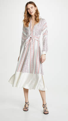 Philosophy di Lorenzo Serafini V Neck Tie Waist Dress