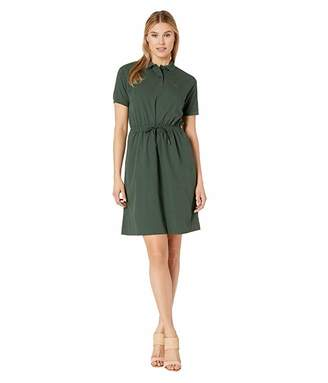 Lacoste Short Sleeve Polo Dress with Cinched Waist