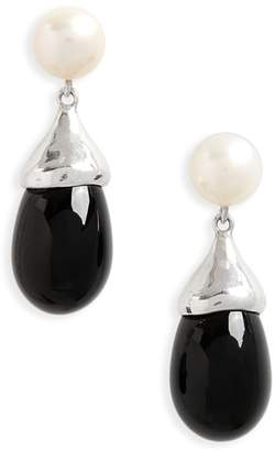 Sophie Buhai Audrey Freshwater Pearl & Glass Teardrop Earrings