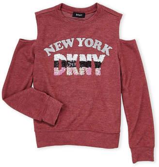 DKNY Girls 7-16) Cold Shoulder New York Top