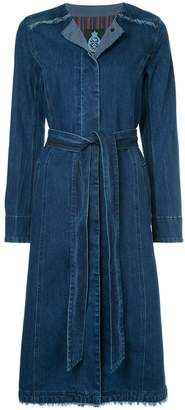 GUILD PRIME belted denim coat